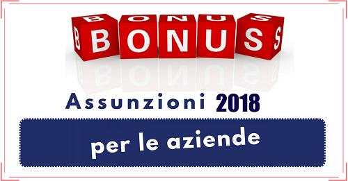 Assunzioni 2018